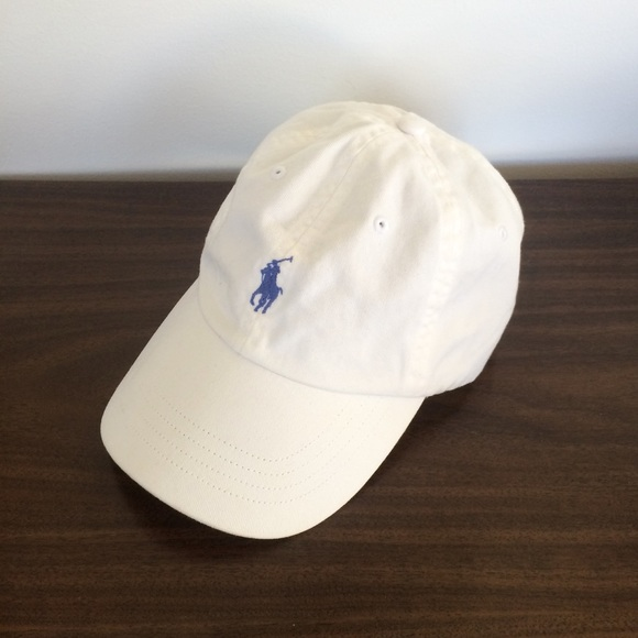 a054ed54 POLO Ralph Lauren White Blue Pony Logo Dad Hat Cap.  M_5a89f9059cc7efcb11ffe409. Other Accessories ...